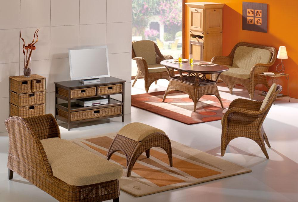 Sofa rattansofa rattan korbsofa 2 sitzer sofa - Casamia wohnen ...